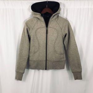 Lululemon Heathered Brown Scuba Hoodie Jacket